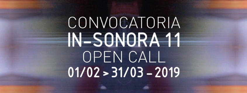 Convocatoria IN-SONORA11 / Open Call